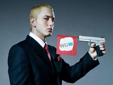 Foto: Eminem fazendo propaganda do Wii U...sério isso?