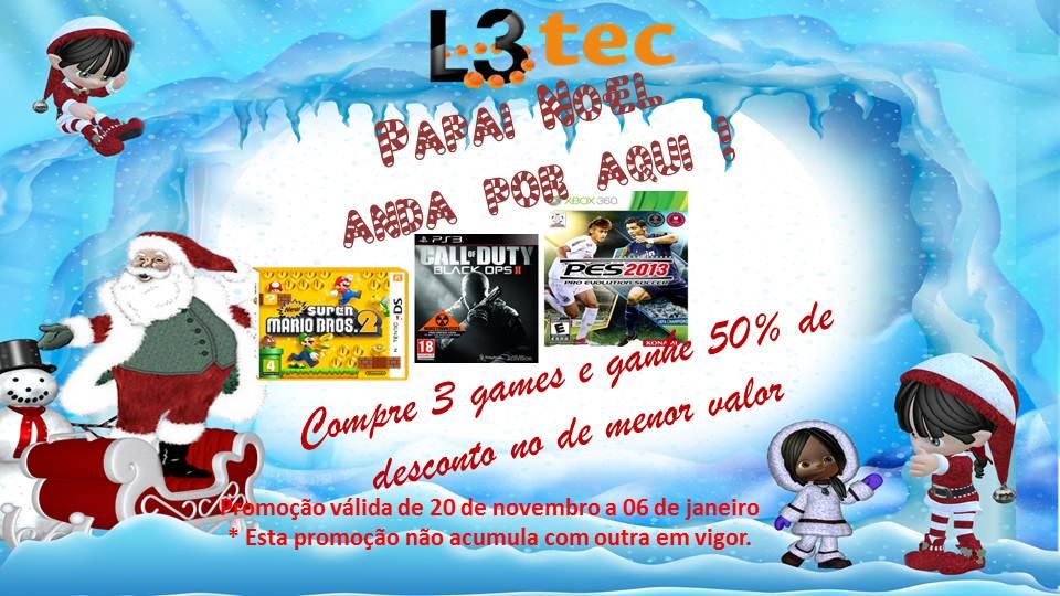 Foto (Reprodução): Promoção de Natal L3Tec e Gamer Spoiler.