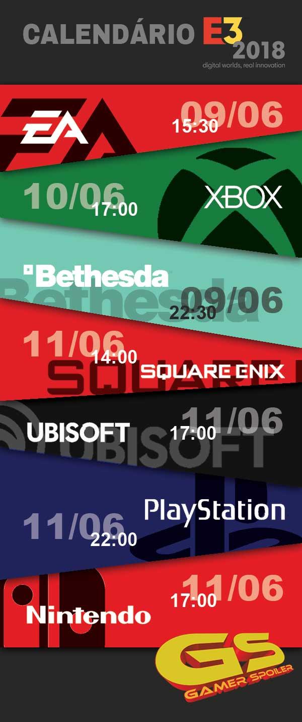 E3 Calendario.Calendario E3 2018 Gamer Spoilergamer Spoiler